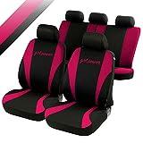 rmg-distribuzione Coprisedili compatibili per 500 L Versione (2012 - in Poi) compatibili con sedili con airbag, bracciolo Laterale, sedili Posteriori sdoppiabili, Neri Rosa Fucsia R03S0168