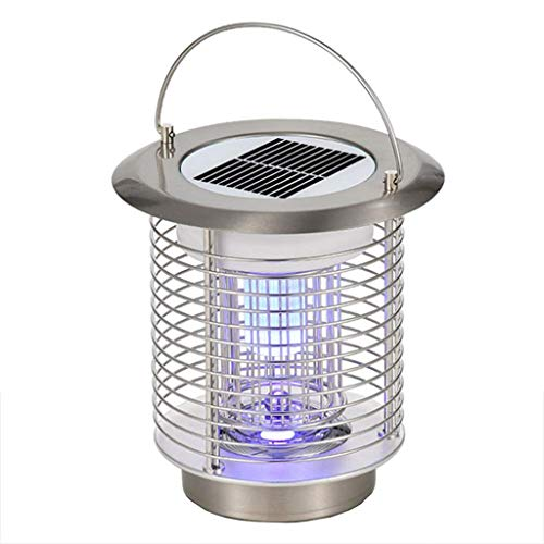 Anchor1 Solar Electric Bugs Fly Mosquito Light Lamp, Modern Mosquito Killing Lamp LED Light Lamps for Indoor Outdoor House Garden