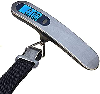 JJJJD Baggage Scale Small High-Precision Luggage Scale Portable Home Shopping Electronic Scale (Maximum Weighing 50kg)