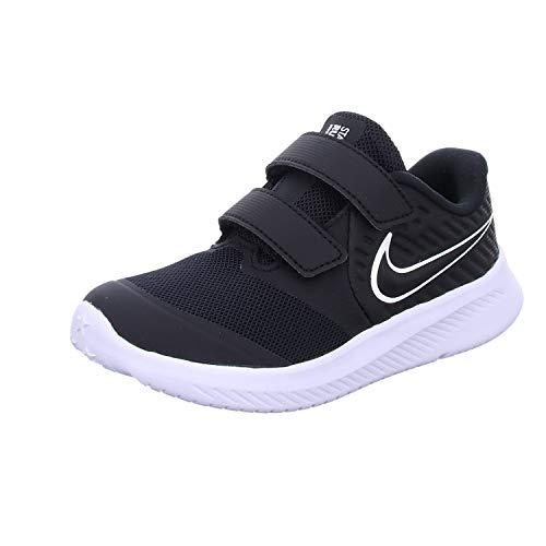 Nike Unisex Baby Star Runner 2 (TDV) Sneaker, Schwarz (Black/White-Black-Volt 001), 23.5 EU