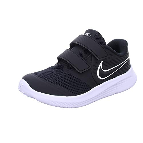 Nike Star Runner 2 (TDV), Sneaker Unisex-Bimbi 0-24, Nero (Black/White/Black/Volt 001), 26 EU