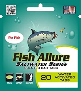 Fish Allure Saltwater Series Pin Fish Scented Bait Tabs for Cobia, Grouper, Jack Species, Mackerel, Sailfish, Shark, Snook, Tarpon, Trout