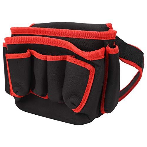 Bolsa de almacenamiento de herramientas bBag de electricista duradera, para fontanero, para acampar(Red edge)
