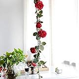 Duhe Fleur Artificielle 1,8 m de Vigne australienne pour décoration de Maison Fausses Fleurs pour Mariage