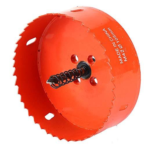 Holesaw Drill Bit, Bi-Metal Hole Saw High Hardness Hole Saw, for Soft Metal Sheet Wood(105mm)