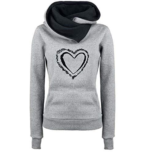 VEMOW Hoodie Pullover Damen Herbst Winter Langarm Sweatshirt Übergröße Locker...