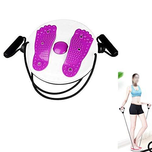 SHR-GCHAO Twist Consiglio, Twist Corpo della Vita Foot Massage Disco per Indoor Sport Fitness Body Shaping Esercizio Board con Coulisse,Viola