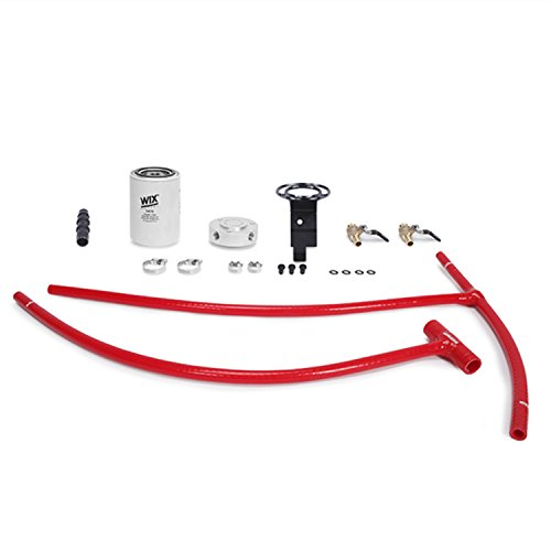Mishimoto MMCFK-F2D-03RD Coolant Filter Kit Compatible With Ford 6.0L Powerstroke 2003-2007 Red