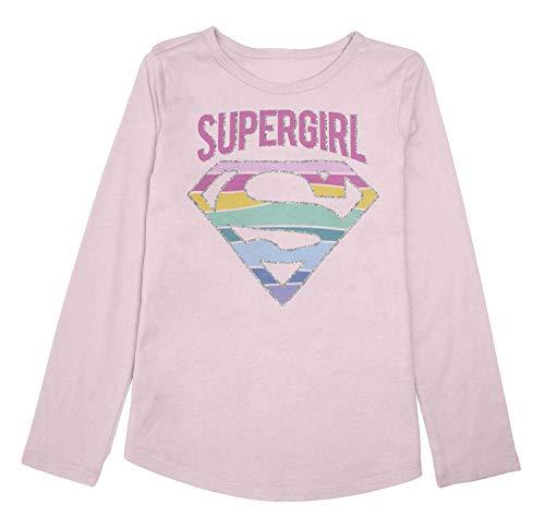 Jumping Beans Girls 4-12 Dc Comics Supergirl Rainbow Graphic Tee 5