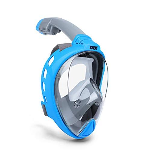 Mascarilla de buceo impermeable bajo el agua antivuelco Panorámica Cara de snorkel Máscara de snorkel Mujeres Hombres Niños Mask Mask Snorkel Mask Scuba 414 ( Color : Navy blue , Size : Small/Medium )