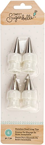 American Crafts 378977 Sweet Sugarbelle Decorating Tools 4 Piece Stainless Steel Icing Tips  