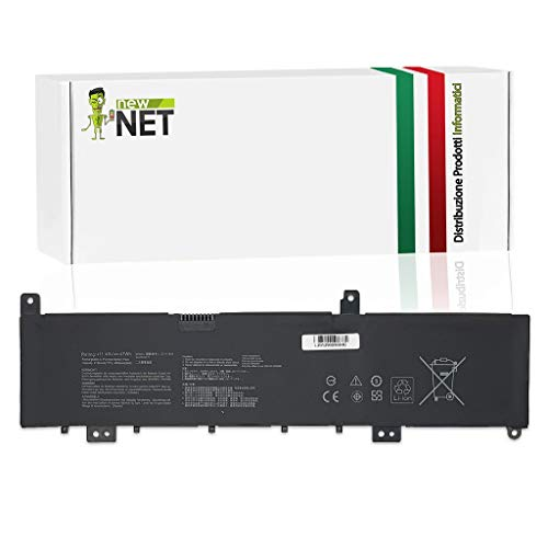 New Net Batteria C31N1636 Compatibile con Notebook ASUS Vivobook PRO N580VN-DM019T NX580GD-FI050R X580GD-1B N580GD-E4189T N580VD-FY256T M580GD-FI495T N580VN-FY077 NX580-VD7700 [4165mAh]