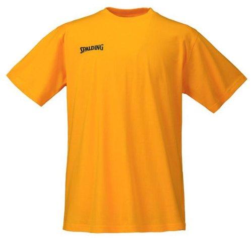 Spalding Promo tee Camiseta De Entrenamiento, Hombre, Amarillo, XXL
