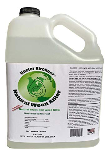 Doctor Kirchner Natural Weed & Grass Killer (1 Gallon) Pet and Kid Safe No Glyphosate and No Hormone Disrupting Chemicals