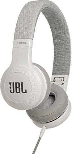 JBL E35 on-ear lichte hoofdtelefoon in opvouwbaar ontwerp met 1-knops afstandsbediening en afneembare microfoonkabel wit