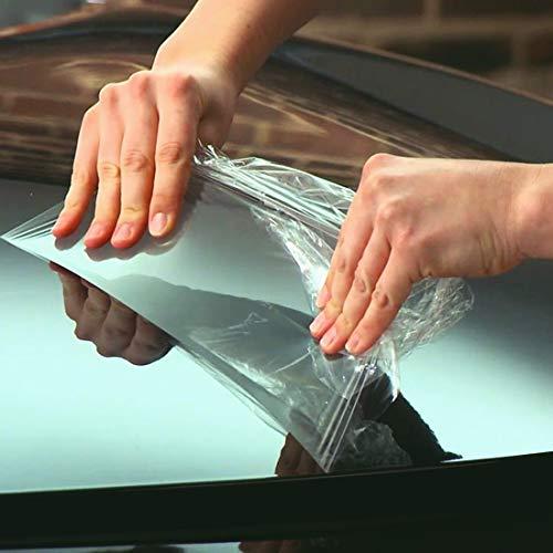 Lot de 10 rouleaux de films adhésifs de protection pour carrosseries et pare-brises automobiles, pour intérieur et extérieur, anti-rayures, imperméables, 21 x 29,7 cm, transparent