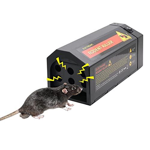LEIPING 2021 Trampa electrónica de Rata, Cargador USB ratón Trampa ratón eléctrico...