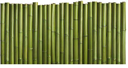 Plage Bambú Cabecero de Cama Adhesivo, Tela, Verde, 160x3x60 cm