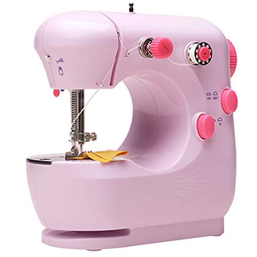 LZWNB Mini Electric Sewing Machine for Beginner Tailors, Portable Household Sewing Machine Free-Arm Crafting Mending Machine,D