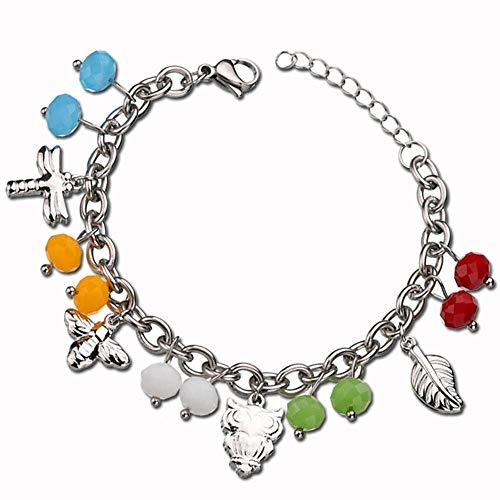 LQHXY DIY Bohemian Animal Colgante Color Crystal Bead Bracelet Women Bracelet