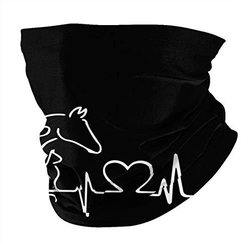 N / A Cubierta De La Cara,Unisex Pasamontañas,Lavable Polainas De Cuello,Verano Sombreros,Perro Gato Caballo Vaca Latido del Corazón Lifeline Cubierta Facial para Deportes De Pesca Al Aire Libre