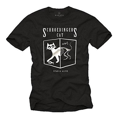 Schrödingers Katze T-Shirt schwarz Big Bang Theory Größe XXXXL