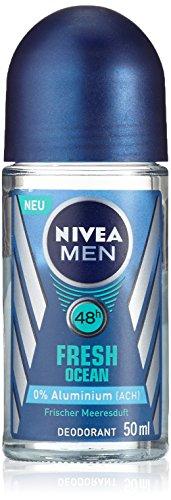 Nivea Men Deo Fresh Ocean Deoroller, ohne Aluminium, Doppelpack, 1er Pack (2 x 50 ml)