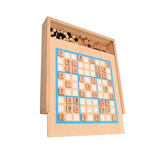 Foliner Zone Holz Sudoku Brett Spiele| Steckspiel| Denkspiel Für Erwachsene, Kinder, Holz Sudoku Brettspiele Zahlenrätsel Memory Spiele, 29.828.85cm