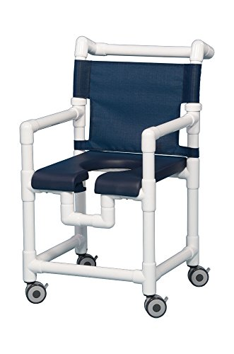 Open Front Seat Deluxe PVC Rolling Shower Chair SC717N