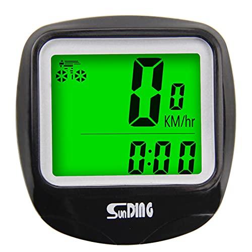 HXUN Fahrradcomputer, kabellos Fahrrad Tacho Kilometerzähler Geschwindigkeitsmesser Wasserdicht Radcomputer Tachometer mit LCD Display für Radsport Realtime Geschwindigkeit und Distanz Track