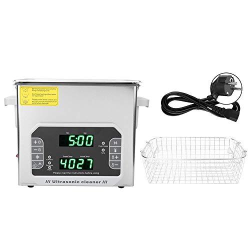 Limpiador Ultrasónico 3.2L, DK-300PF Limpiador Ultrasónico Multifuncional Toque Acero Inoxidable Joyas Gafas Herramienta de limpieza para Joyas Anillos Relojes Anteojos Monedas(EU Plug)