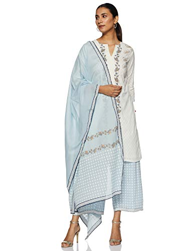 BIBA Women's Cotton Salwar Suit Set