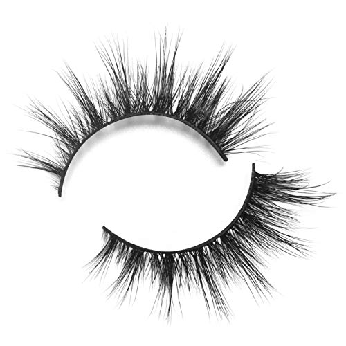 BEPHOLAN Mink Fur Lashes|100% Siberian Real Mink Fur| 3D Mink Lashes| Natural Round Look| Totally Cruelty-Free| 100% Handmade& Reuseable| Easy to Apply| XMZ06