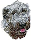 VirVenture 1 5/8' x 2 1/8' Irish Wolfhound Portrait Dog Breed Embroidery Patch Great for Hats, Backpacks, and Jackets.
