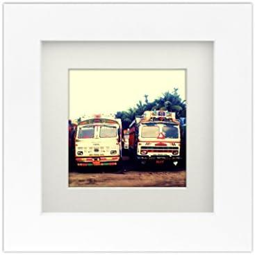 Tiny Mighty Frames Wood Square Instagram Photo Frame 6x6 5 5x5 5 Window 4x4 Mat 3 75x3 75 Window product image