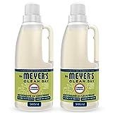 MRS MEYERS Clean Day Detersivo Lavatrice Concentrato, Fragranza Limone & Verbena, Prodotti creati con Oli essenziali, 2 x 31 lavaggi