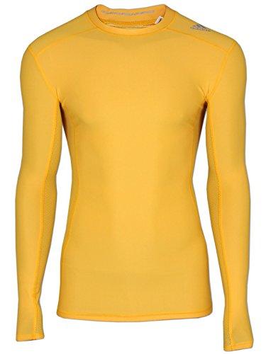 adidas Herren Sport T-Shirt Langarm BQ6000 TF Chill LS Gelb (XS)