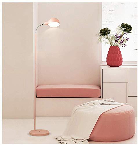 Nordic Floor Lamp, Woonkamer Slaapkamer Eenvoudige Moderne Creatieve Kleur Macaron Bedzijde Studie Verticale Vloerlamp (Kleur : Groen)