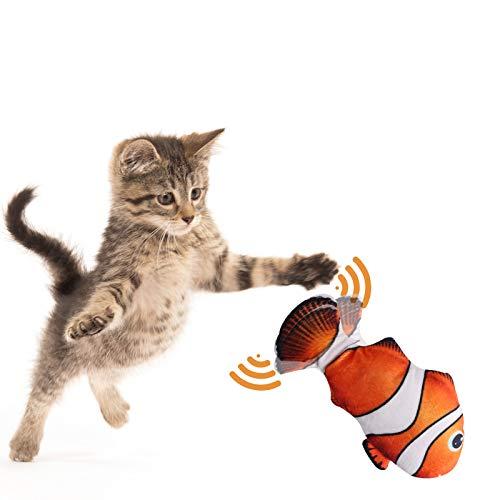 ADISTAR Katzenspielzeug 2 Stücke, Katze Interaktive Spielzeug, Spielzeug mit Katzenminze, Katzenkissen mit Katzenminze, Interaktives Katzenspielzeug (Elektrisch Spielzeug Fisch)