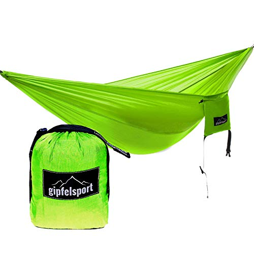gipfelsport Hammock green with straps