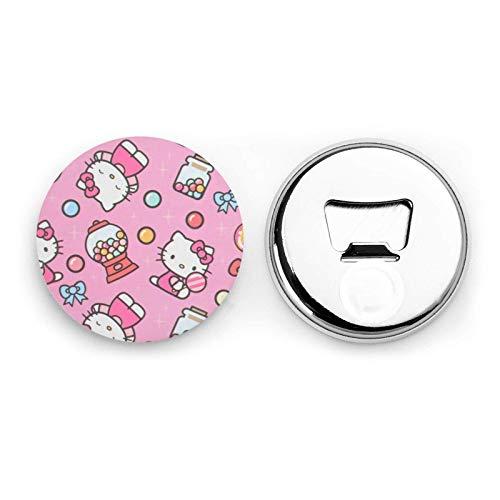 songyang Hello Kitty Apribottiglie Kawaii Frigo Magnete Emblema Multiuso Home Office Decorazione Adesivo Magnetico 4 Pezzi Cavatappi (Hello Kitty 01)