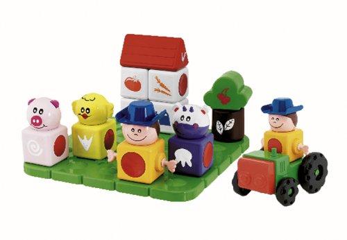 Chicco Jouet premier âge Jeu de construction Ma Ferme Magique Blocks