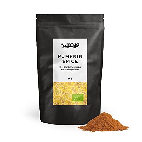 Pumpkin Spice Bio-Gewürzmischung für Kürbisgerichte, 80g Beutel | fair gehandelt, von Hand gemischt | Kürbisgewürz ohne Salz & Zucker | perfekt für Pumpkin Spice Latte