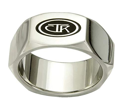 J176 Size 10 FORGED Stainless Steel CTR Ring Mormon LDS Unisex One Moment In Time
