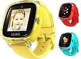 2G Reloj Inteligente Niño y Niña GPS Localizador y Llamadas Bidireccionales Audio, Chat de Voz, Botón SOS, Impermeable, Cámara, Juegos - ELARI KidPhone Fresh (Amarillo)