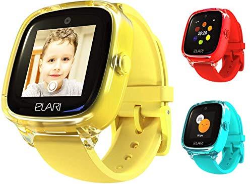Elari 2G Reloj Inteligente Niño y Niña GPS Localizador y Llamadas Bidireccionales Audio, Chat de Voz, Botón SOS, Impermeable, Cámara, Juegos KidPhone Fresh (Amarillo)