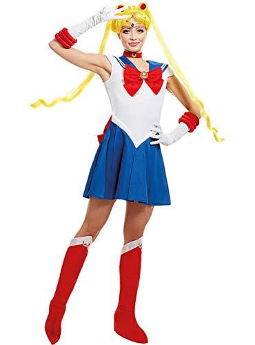 Funidelia | Disfraz de Luna - Sailor Moon Oficial para Mujer Talla XL Anime, Cosplay, Bunny Tsukino, Dibujos Animados - Azul