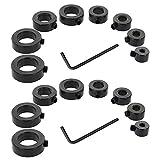 Saipor Set di 2 anelli di arresto di profondità con chiave esagonale per trapano profonda, anello di regolazione (3/4/5/6/8/10/12/16 mm)