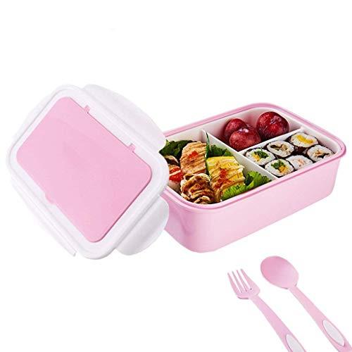 avec couverts inclus Bo/îte /à d/éjeuner Bento pour adultes passe au micro-ondes et au lave-vaisselle /étanche 5 compartiments sans BPA bo/îte Bento pour enfants plus /âg/és