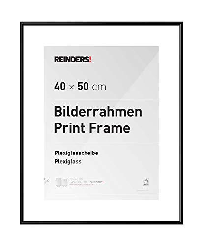 REINDERS Bilderrahmen Wechselrahmen Poster Schwarz Kunststoff Mini 40x50cm - 41 x 51 cm Wohnzimmer